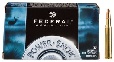 Federal Premium Power-Shok Centerfire Rifle Ammo – 77mm Mauser – 140 Grain