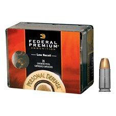 Federal Premium Personal Defense Pistol Cartidges