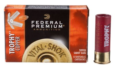 Federal Premium Vital-Shok Trophy Polymer Tipped Sabot Slug Shotshells by