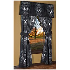 Bone Collector Collection Black/Grey Drapes or Valance