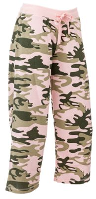 Natural Reflections Loungewear Collection for Ladies – Crop Pants – Camo Print – M