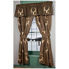 Bone Collector Collection Drapes or Valance - Brown