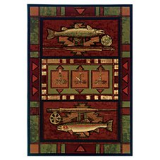 Wildlife-Themed Area Rugs Rainbow Trout