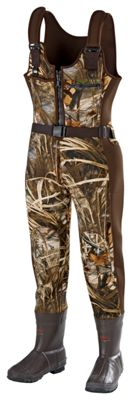 SHE Outdoor Waterfowl Boot-Foot Insulated Waders for Ladies – Realtree MAX-4 – Realtree MAX-4 – 10 M