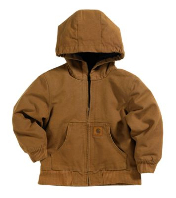 Carhartt Active Jacket for Boys Carhartt Brown XS