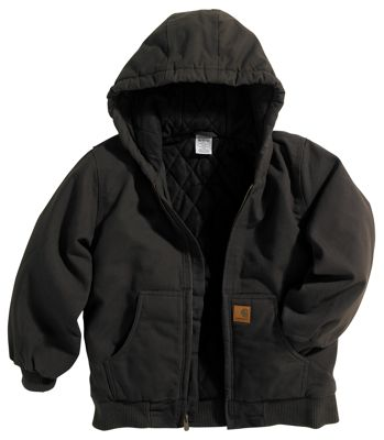 Carhartt Active Jacket for Boys Mustang Brown XXS