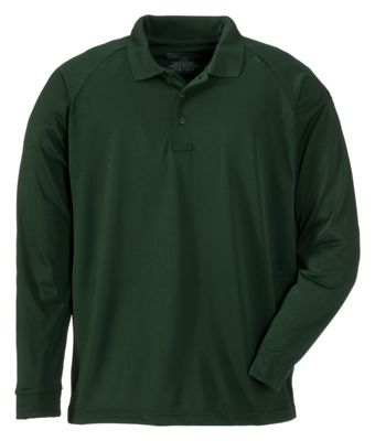 511 Tactical Performance Long Sleeve Polo Shirt for Men LE Green L