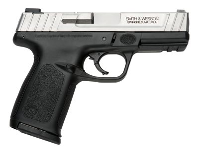 Smith & Wesson SD9 VE Semi-Auto Pistol – 9mm – Round Capacity 10+1 – Ambidextrous – Black/Silver
