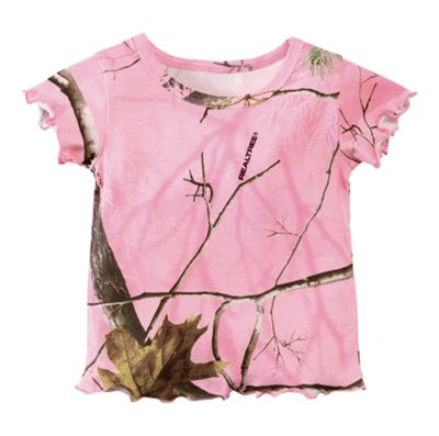 Bass Pro Shops Pink Camo T-Shirt for Babies or Toddler Girls – Realtree APC Pink – 9 Months