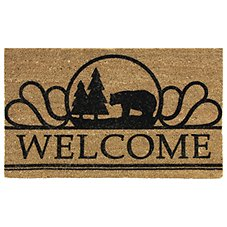 Bacova Heavy-Duty Entrance Mat - Welcome Bear
