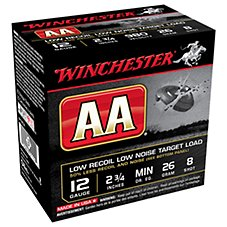 Winchester AA Low Recoil/Low Noise Target Loads Shotshells