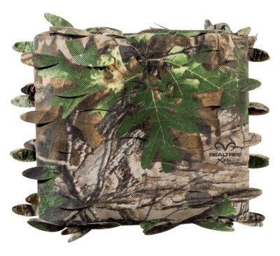 """Hunter's Specialties H.S. Camo Blind Material – Leaf Die-Cut Cerex – 56"""" x 30′ – Realtree Xtra Green"""