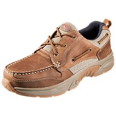 Fishing and Outdoor Shoe Premium Leather and Comfort Mens Sizes 8 to 13 Rugged Shark Bill Dance Pro Boat Shoe