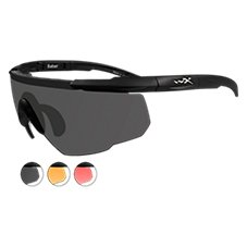 Wiley X Saber Sunglasses with 3 Interchangeable Lenses