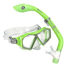 Aqua Lung Sport Molokai Mask and Island Dry Snorkel Junior Set for Kids