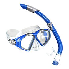 Aqua Lung Sport Cozumel Mask and Seabreeze Dry Snorkel Set for Adults