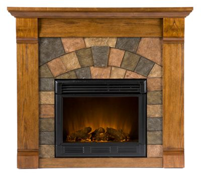 Holly & Martin Underwood Electric Fireplace - Antique Oak