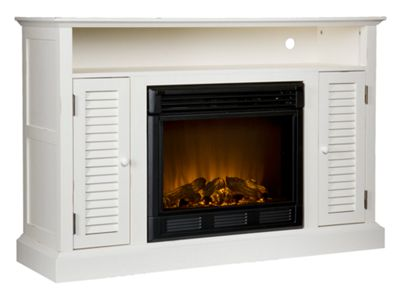 Holly & Martin Savannah Media Electric Fireplace - Antique White