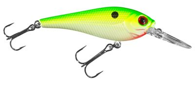 Bass Pro Shops XPS Lazer Eye Static Shad Hard Bait – 2-7/8″ – Chartreuse Pearl