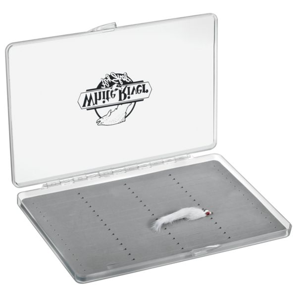 White River Fly Shop Riseform Extra Large Clear Fly Box - Long Slit Foam