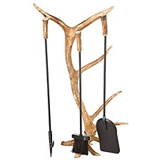 Antler Accents Fireplace Tool Set