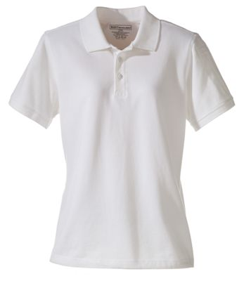 5.11 Tactical Professional New Fit Short-Sleeve Pique Polo for Ladies – White – S