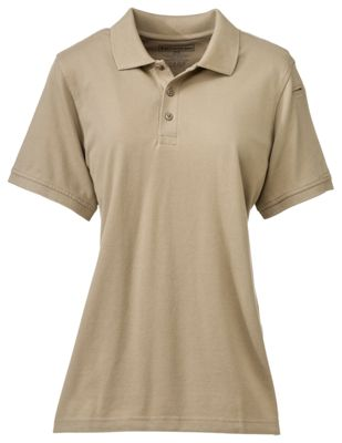 511 Tactical Professional Fit Short Sleeve Pique Polo for Ladies Silver Tan S