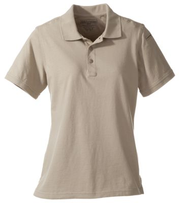 511 Tactical Short Sleeve Polo for Ladies Silver Tan L
