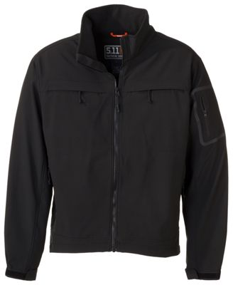 5.11 Tactical Chameleon Softshell Jacket for Men - Black - XS thumbnail