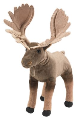 Wildlife Artists Conservation Critters Plush Stuffed Moose Toy