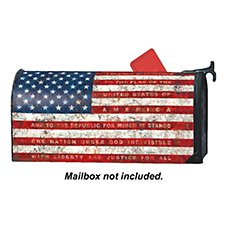 Magnet Works MailWraps Magnetic Mailbox Cover - Pledge of Allegiance by Tim Coffey