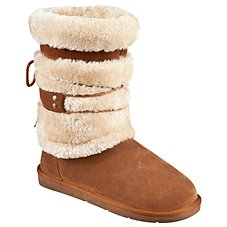 Natural Reflections Bernie Shearling Boots for Ladies - Tan
