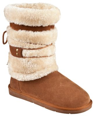 Natural Reflections Bernie Shearling 9'' Boots For Ladies Tan 8