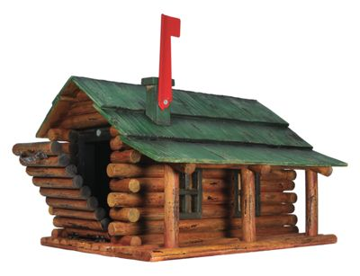 River's Edge Log Cabin Mailbox by