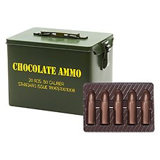 Collectible Military Tin with Chocolate Bullets