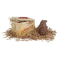 Collectible Tin with Chocolate Hand Grenade