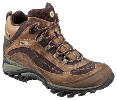 Merrell Siren Leather Waterproof Mid Hiking Shoes for Ladies - Brown - 10M