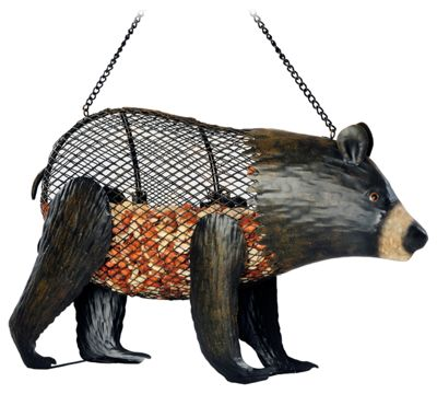 Brown Bear Mesh Bird Feeder