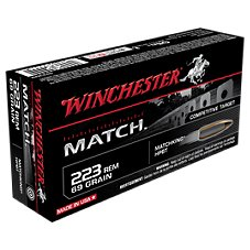 Winchester Match BTHP Centerfire Rifle Ammo Image