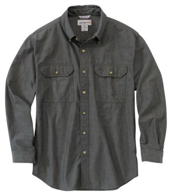Black Chambray All Sizes Carhartt Fort Solid Shirt Short Sleeve