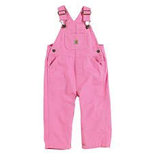 Carhartt Washed Microsanded Canvas Bib Overalls for Baby or Toddler Girls