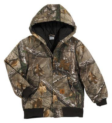 90682ca5c0f1a Carhartt Work Realtree Xtra Camo Active Jacket for Youth S