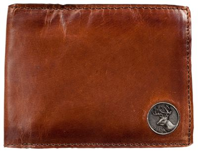 Weber's Leather Billfold With Buck Critter Concho