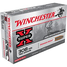 Winchester Super-X Power-Point Centerfire Rifle Ammo