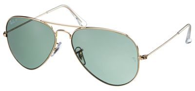 ray ban aviator polarized green