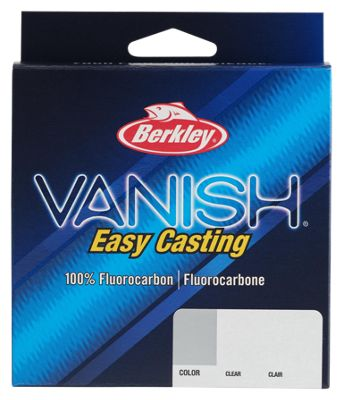 Berkley Vanish Clear 250 Yd 4lb 100/% Fluorocarbon Fishing Line Fishing Line