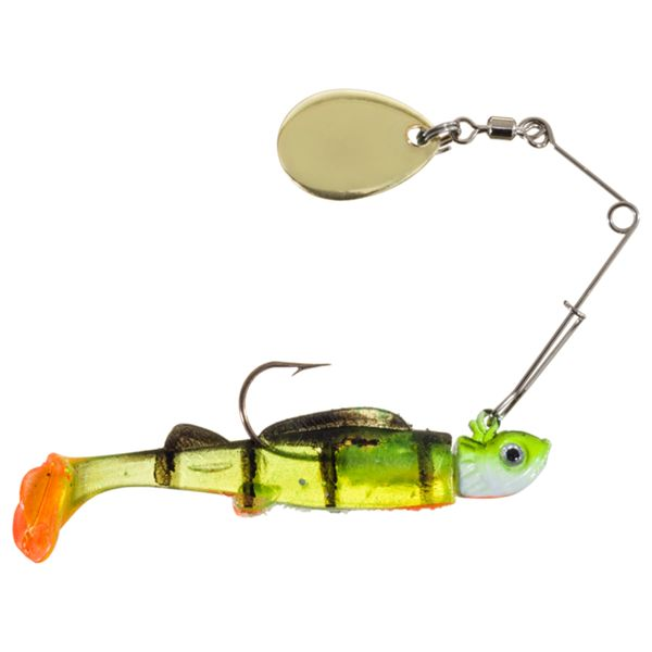 Bass Pro Shops Crappie Maxx Paddle Tail Minnow Spin - 2' - 1/16 oz. - Perch
