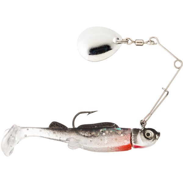 Bass Pro Shops Crappie Maxx Paddle Tail Minnow Spin -2' - 1/8 oz. - Silver Shiner
