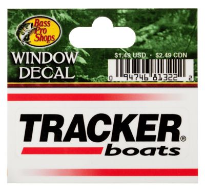 bass pro shops die cut vinyl tracker boats window decal. Black Bedroom Furniture Sets. Home Design Ideas