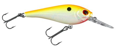 Bass Pro Shops XPS Lazer Eye Static Shad Hard Bait – 3″ – Orange Pearl
